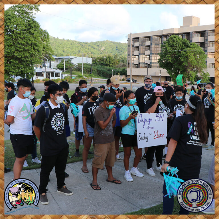 SAAM Walk Roll Wave Against Sexual Violence - 11 Ayuyu Battalion rehearsing their original cadence created for the event