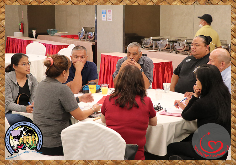 After the closing remarks, leaders of CCDF, CCLP, DICE Pacific, and Evergreen Learning took seats to further discuss the state of Child Care in the CNMI and the progress of their ongoing and upcoming projects.